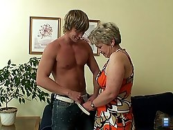Thick young boner inside the granny and she receives the meat with a great deal of pleasure