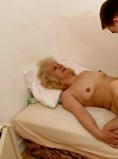 Blonde granny gets a fuck of her life from a sly guy