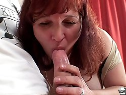 Sexy granny hole opened up by the young dick and she wants even more of his meat
