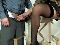 Risky nooner with a slutty mature secretary
