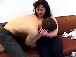 Horny mature housewife fucked by a young dick in her bedroom