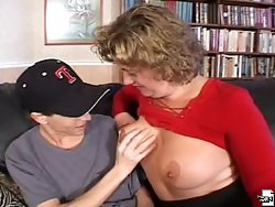 Lovely momma sucks cock and getting nasty hammered