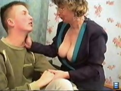 This blonde mommy agreed to satisfy this sweet lad's sexual hunger