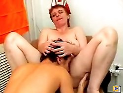Young lad share a bad with his mature neighbor's wife while neighbor is out and they fucking each other like rabbits