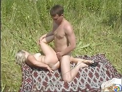 Mommy fucked outdoor