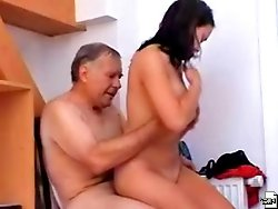 A nymphomaniac girl does her nasty things to her friend's dad and she desperately wants to feel his cock inside of her