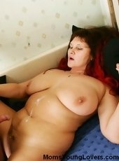 Younger stud fucks mature woman with huge tits